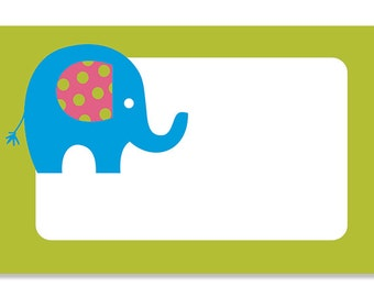 50 Elephant gift cards, Children gift cards, Baby shower gift cards, Elephant cards, Blank gift cards