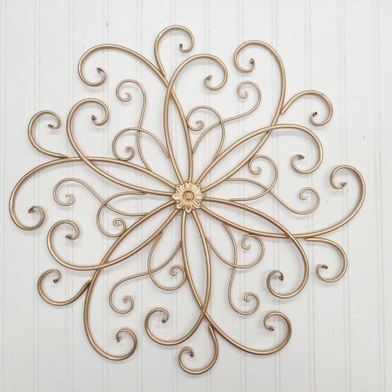 wall decor 32 colors gold metal wall decor sslid0242 wrought. Black Bedroom Furniture Sets. Home Design Ideas