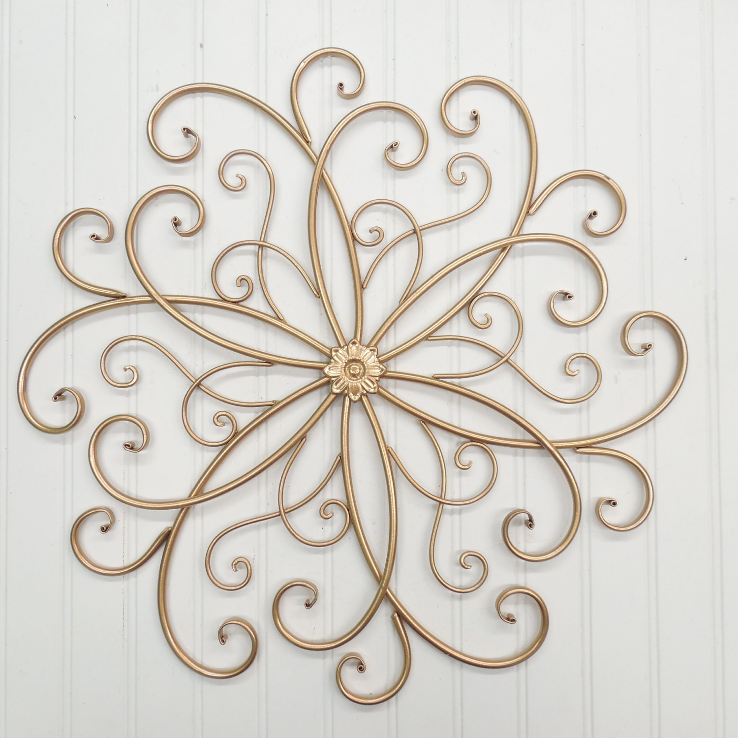 Wall decor 32 colors gold metal wall decor sslid0242 wrought for Gold wall art