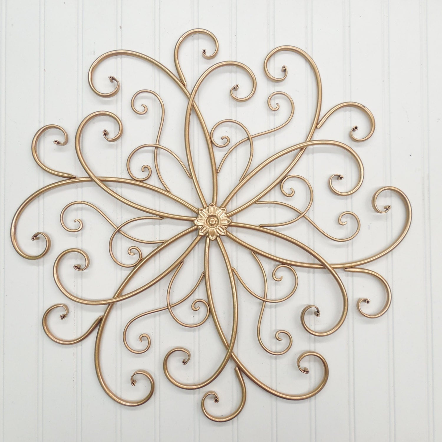 Gold R Wall Decor : Wall decor colors gold metal sslid wrought