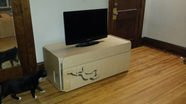 Wooden Litter Box Cabinets