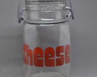 Vintage Cheese Clear Jar/Shaker by Wheaton Glass