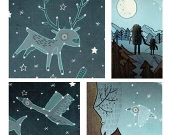 Children's Illustration - Set of 10 prints