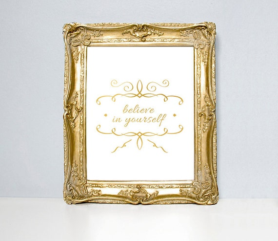 believe in yourself home decor wall decor poster modern