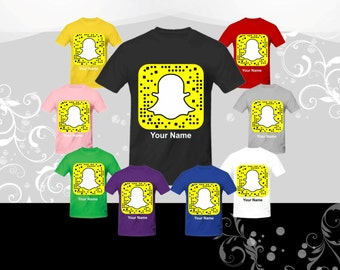 "Get your ""SNAPCHAT QR CODE"" on a t-shirt, and your friends can snap your shirt to add you"