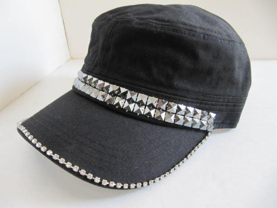 cadet hat hats black hat bling hat hat womens