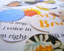 100 Piece Little Golden Book Confetti - Round Confetti - Table Decor - Vintage Children's Book - Party Decor  - Baby Shower Decor