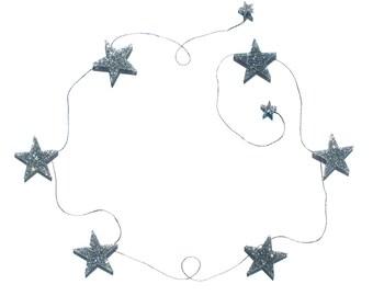 Star Acrylic Garland-Glitter | Nursery & Kids Decor