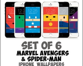 Marvel Avengers iPhone wallpapers: Spiderman, Captain America, Iron Man, Hulk, Thor | iPhone 5, 5c, 5s, 6, 6 Plus | Minimalist Age of Ultron