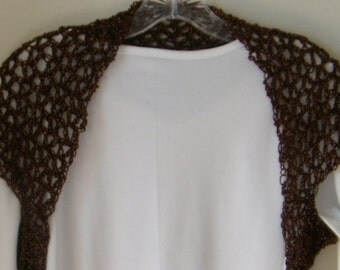 Copper Brown Cap Sleeve Bridal Shrug