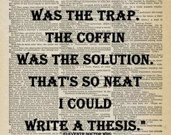 ducks thesis doctor quote The catcher in the rye study guide contains a the catcher in the rye summary and analysis of holden's mind wanders to the ducks in.