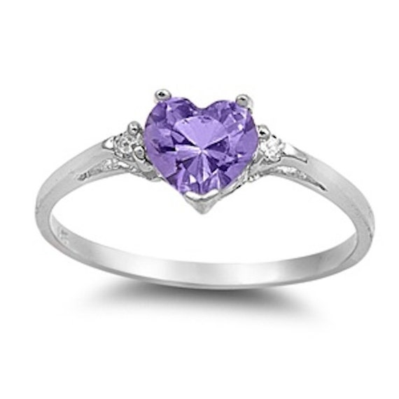 carat heart shape purple amethyst clear by. Black Bedroom Furniture Sets. Home Design Ideas
