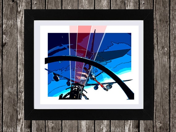 Refueling Aircraft, Instant Download, USAF, US Air Force, Aircraft Art, Wall Art, Boy's Wall Art, Aviation Art, 8 x 10""