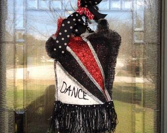 Burlap Dance Door Hanger