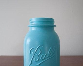 Painted mason jar quart size (1 jar)