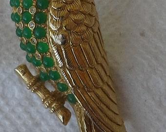 Vintage Nettie Roseinstein Figural  rare parrot brooch