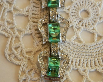 Beautiful Vintage Costume Rhinestone Bracelet