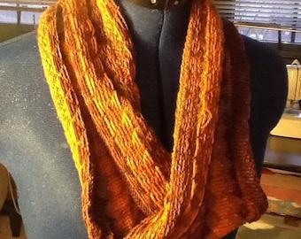 Fair isle infinity scarf