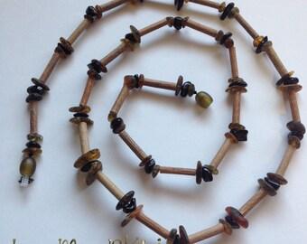 RAW Baltic Amber / Hazelwood  Necklace! Greenish/Black Adult