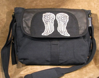Daryl Dixon's Angel Wings on Canvas Shoulder Messenger bag 21015-8