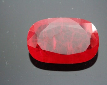 Natural Clarity Enhanced African Ruby Oval Shape 48.05ct