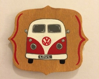 Red VW Bus Magnet