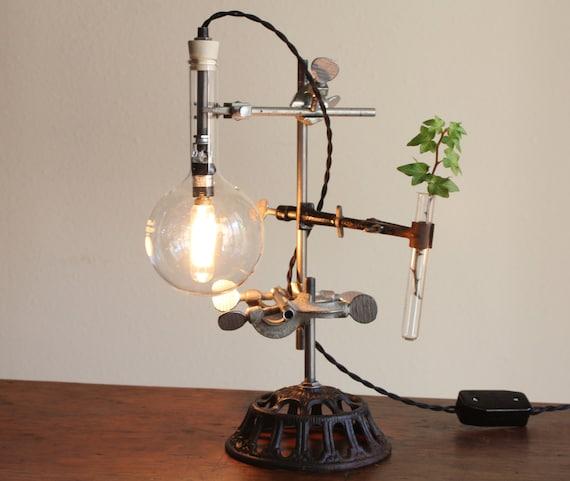 lampada, lampada da scrivania steampunk, tavolo industriale lampada ...
