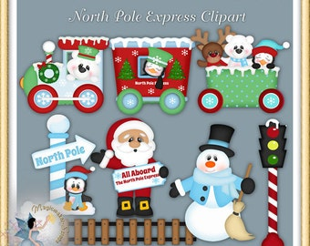 Holiday, North Pole, Santa Claus, Christmas clipart