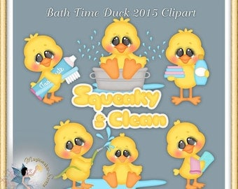 Baby Clipart, Bath Time Duck, Rubber duckie