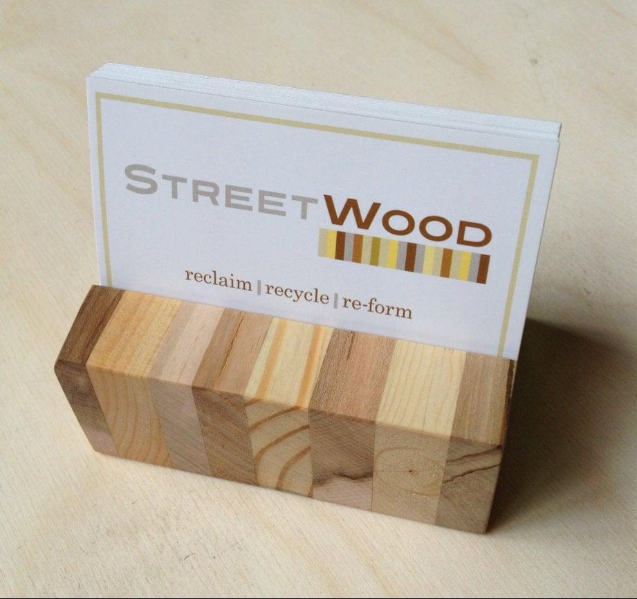 Reclaimed Pallet Wood Business Card Holder