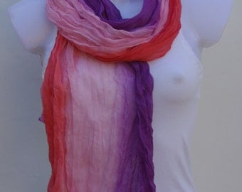 Pink Purple Scarf Scarves For Women Unique Scarves Fashion Scarves Winter Spring Scarves Womens Scarves Shawl Scarf Mommy And Me Scarves