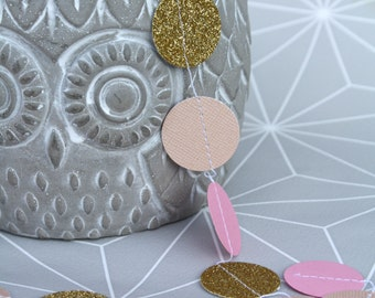 Pink and Golden paper Garland