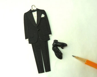 Tuxedo, tux bow tie and Leather Dress Shoes