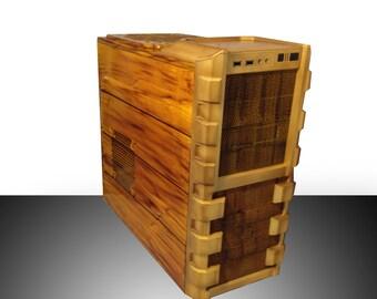 custom wood computer case computer case etsy