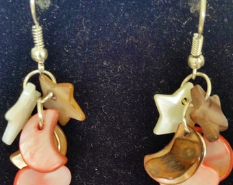 Genuine Handmade Mother-Of-Pearl Drop Earrings