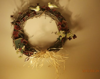 Bird House Grapvine Wreath