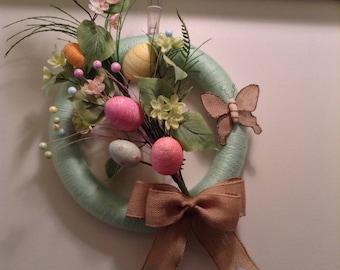 Easter Yarn Wreath