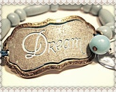 Inspirational Word Bracelet~Inspirational Quote Bracelet~DREAM Quote Bracelet~Inspirational Word Quote Bracelet~DREAM Word Quote