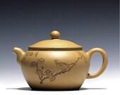 Qing Qu teapot; YiXing Pottery Handmade zisha clay teapot,Guaranteed 100% genuine original mineral fired