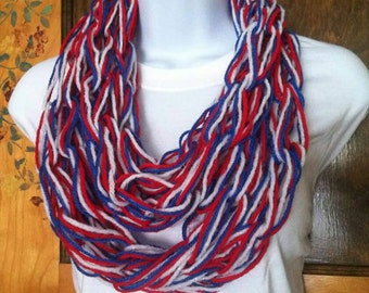 Red, White and Blue Infinity Scarf