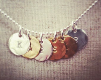 Multiple charm necklace