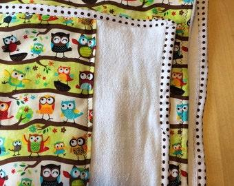 Custom Set of 3 coordinating burp cloths