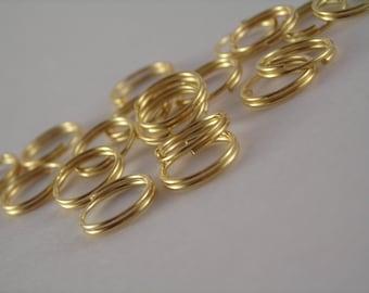 Gold-Plated 8mm Split Jump Rings, DE020