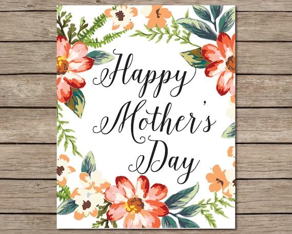 happy mother 39 s day printable instant download printable. Black Bedroom Furniture Sets. Home Design Ideas