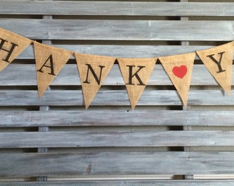 Thank You Banner, Thank You Burlap Banner, Thank You Sign, Thank You Prop, Thank You Card Sign