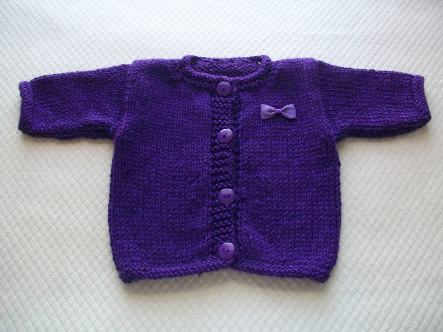 Dark Purple Baby Cardigan Purple Baby Sweater Purple Baby