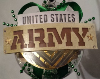 US Army Christmas Ornament -  United States Army - Military/Armed Forces/Combat