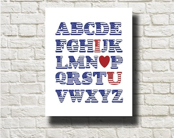 Nursery ABC Printable Instant Download Typography Art Print Wall Decor DNN051