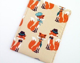 Clever Cartoon Fox Kindle Sleeve Case