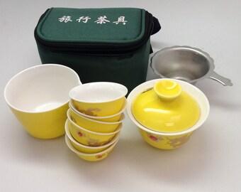 Travel Tea Set Yellow Dragon Tea Set